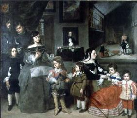 The Artist's Family, on the left the four children from the artist's first marriage to the daughter