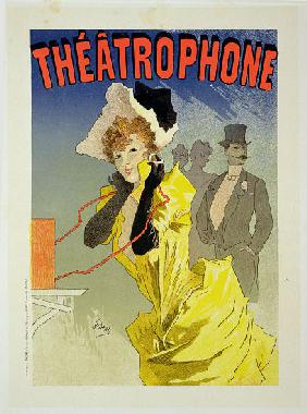 Reproduction of a poster advertising 'Theatrophone'