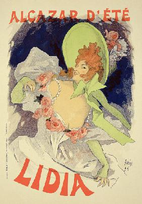 Reproduction of a poster advertising 'Lidia', at the Alcazar d'Ete