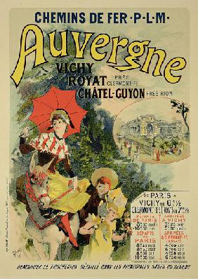 Reproduction of a poster advertising the 'Auvergne Railway', France