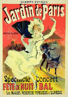 Reproduction of a Poster Advertising the 'Jardin de Paris' on the Chanps Elysees