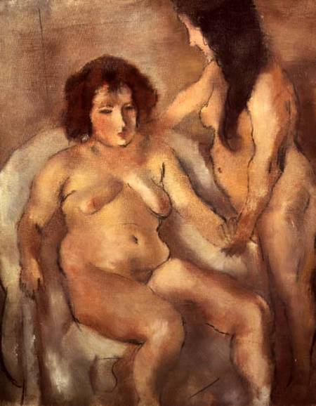 Jules Pascin - Two Nude Women ...