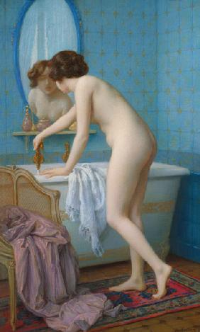 Young Woman Preparing her Bath
