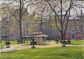 Berkeley Square, London (oil on canvas)