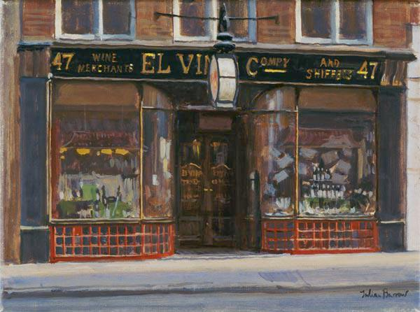 El Vino''s, Fleet Street (oil on canvas)