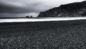 Vik and the black sand