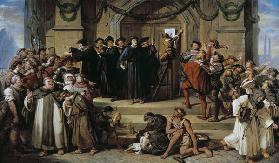 The stop of the 95 thesis by Martin Luther