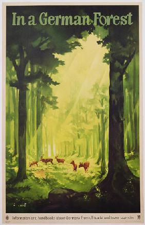 'In a German Forest', poster advertising tourism in Germany