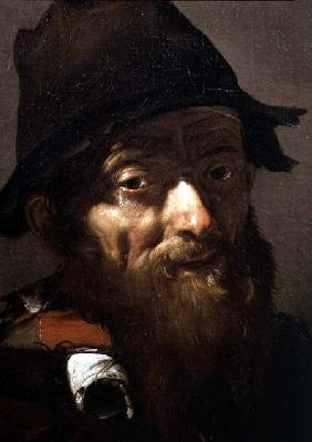 Head of an Old Man, detail of Portrait of an Old Man with an Onion