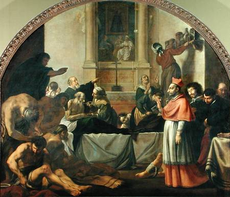 St charles borromeo 1538 84 karel skreta as art print for St charles craft show 2017