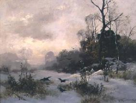 Crows in a Winter Landscape