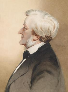 Portrait of the composer Richard Wagner (1813-1883)