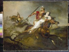 Prince Ladislaus in the battle at Cserhalom.