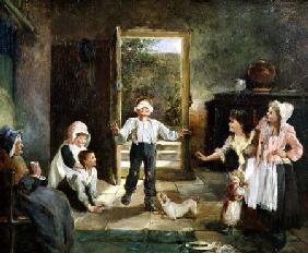 Children Playing Blind Man's Buff