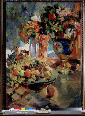 Still life with a blue vase