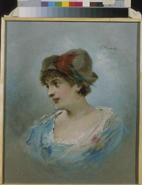 Portrait of the ballet dancer Marie Petipa (1857-1930)