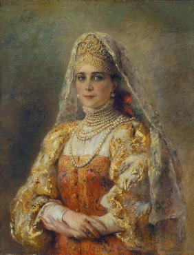Portrait of Princess Zinaida Yusupova in Russian Dress