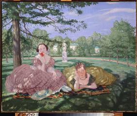 Two ladies in a park