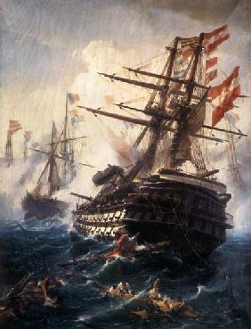 The liner emperor in the naval battle of Lissa.