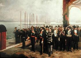 Embarkation of Amadeo I (1845-90) of Savoy for Spain