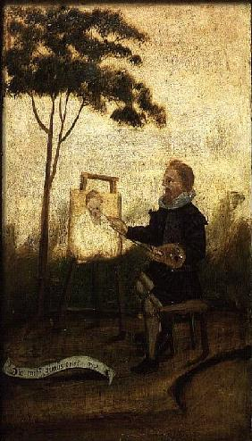 The Hawstead Panels, no.4: The Painter, probably