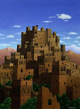 Beyond the Valley of the Kasbahs, 1993 (acrylic on linen)