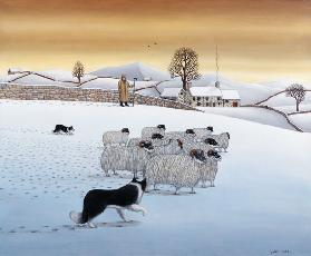 The Fells in Winter, 1984 (acrylic on linen)