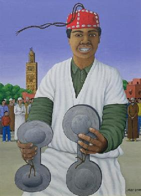 Pursued by Gnawa, 1990 (acrylic on linen)