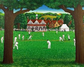 The Cricket Match, 1987 (acrylic on linen)