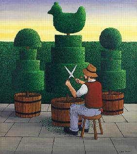 The Gardener, 1986 (acrylic on linen)