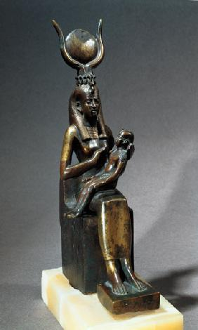 Statuette of the goddess Isis and the child Horus