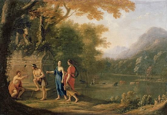 The Arcadian Shepherds Laurent De La Hyre As Art Print