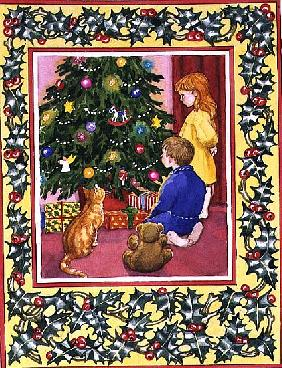 The Holly and the Christmas Tree, 1996 (w/c)