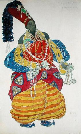 The Great Eunuch, costume design for Diaghilev''s production of the ballet ''Scheherazade''