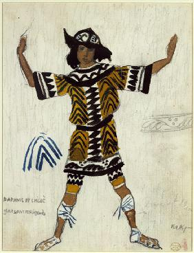 Costume design for the ballet Daphnis et Chloé by M. Ravel