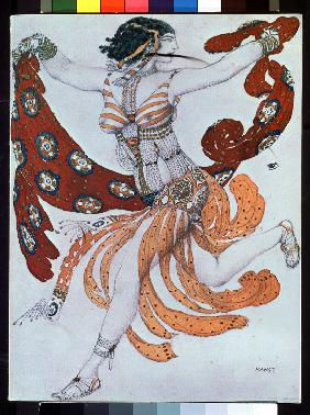 Costume design for the ballet Cleopatra by A. Arensky