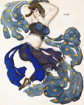 Odalisque. Costume design for the ballet Sheherazade by N. Rimsky-Korsakov