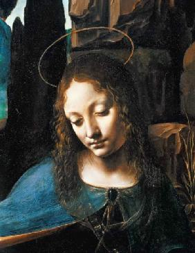 Detail of the Head of the Virgin, from The Virgin of the Rocks (The Virgin with the Infant Saint Joh