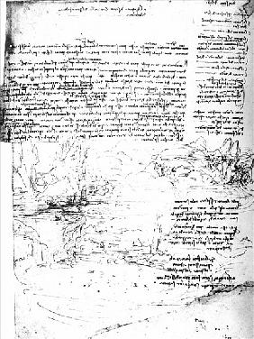 Fol.145v-a, page from Da Vinci''s notebook