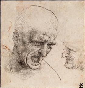 Head studies on the Battle of Anghiari