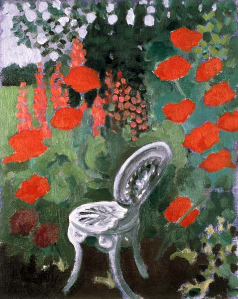 Garden Chair - Lillian Delevoryas as art print or hand ...