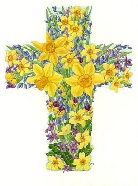 Floral Cross I, 1998 (w/c on paper)