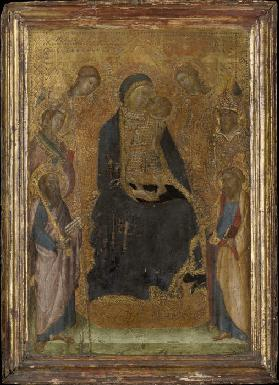 Madonna and Child Enthroned, with Saints and Angels