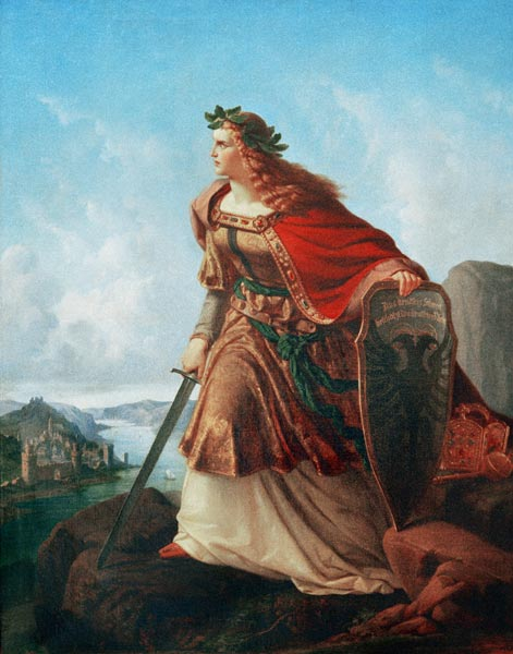 Germania at the Watch on the Rhine - Lorenz Clasen as art print or
