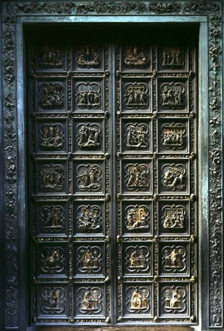North Doors of the Baptistery of San Gio - Lorenzo Ghiberti as art ...