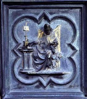 St Ambrose, panel E of the North Doors of the Baptistery of San Giovanni