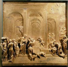 The Story of Jacob and Esau, original panel from the East Doors of the Baptistery