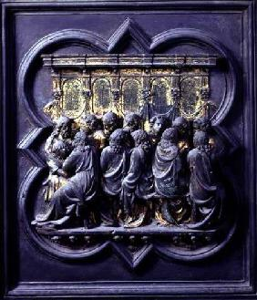 The Last Supper, twelfth panel of the North Doors of the Baptistery of San Giovanni