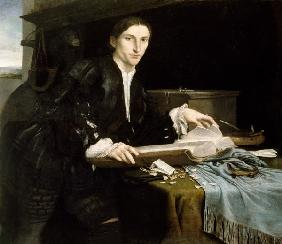 Lotto / Young Man in his Study / c.1527