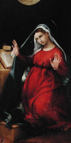 The Virgin, right hand panel from the Annunciation